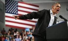Barack Obama em Springfield, Ohio: republicanos poderiam paralisar um segundo mandato Foto: AFP