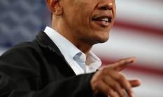 O presidente Barack Obama durante campanha em Springfield, Ohio Foto: Chip Somodevilla/Getty Images/AFP