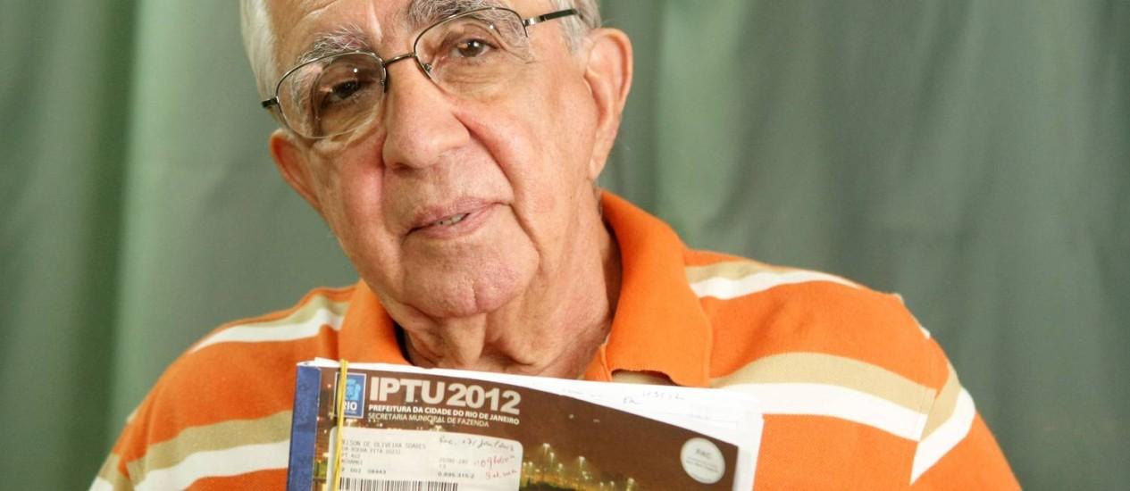 Argumento. O advogado Nelson de Oliveira defende que os impostos não subam mais do que a inflação Foto: Gustavo Stephan / O Globo