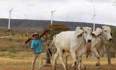 Campo de energia eólica em Caetité, interior da Bahia: a maioria dos projetos está no Nordeste, porque lá os ventos são melhores Foto: Pablo Jacob / Agência O Globo