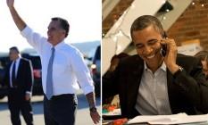 Romney acena para eleitores em Ohio e Obama liga para partidários em Chicago Foto: AFP e Flickr de Barack Obama