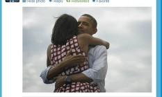 Presidente Barack Obama manda mensagem de agradecimento aos eleitores pelo Twitter Foto: Internet / Reprodução