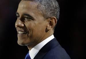 Obama faz seu discurso após ser reeleito Foto: AP/M. Spencer Green