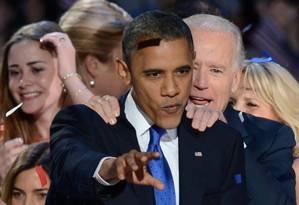 Apesar da vantagem estreita no voto popular, Obama garantiu ampla vantagem no Colégio Eleitoral Foto: SAUL LOEB / AFP