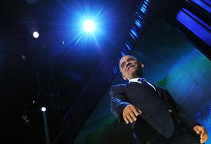 Barack Obama consegue maioria no Colégio Eleitoral e no voto popular e é reeleito Foto: JEWEL SAMAD / AFP