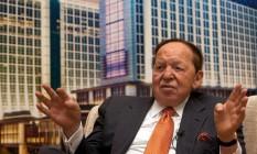 Sheldon Adelson, maior doador individual da campanha republicana Foto: Daniel J. Groshong/Bloomberg