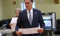 Conhecido por uma notável carreira como executivo, Romney deve pôr fim a vida pública Foto: JUSTIN SULLIVAN / AFP