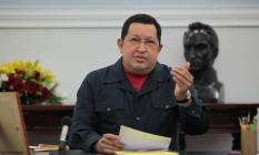 Hugo Chávez no Palácio de Miraflores: conselhos para Obama Foto: AFP