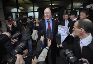O diretor-geral da BBC, George Entwistle, em outubro deste no Foto: AFP/ CARL COURT