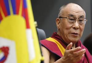 Dalai Lama se encontrou com parlamentares japoneses nesta terça-feira Foto: YURIKO NAKAO / Reuters