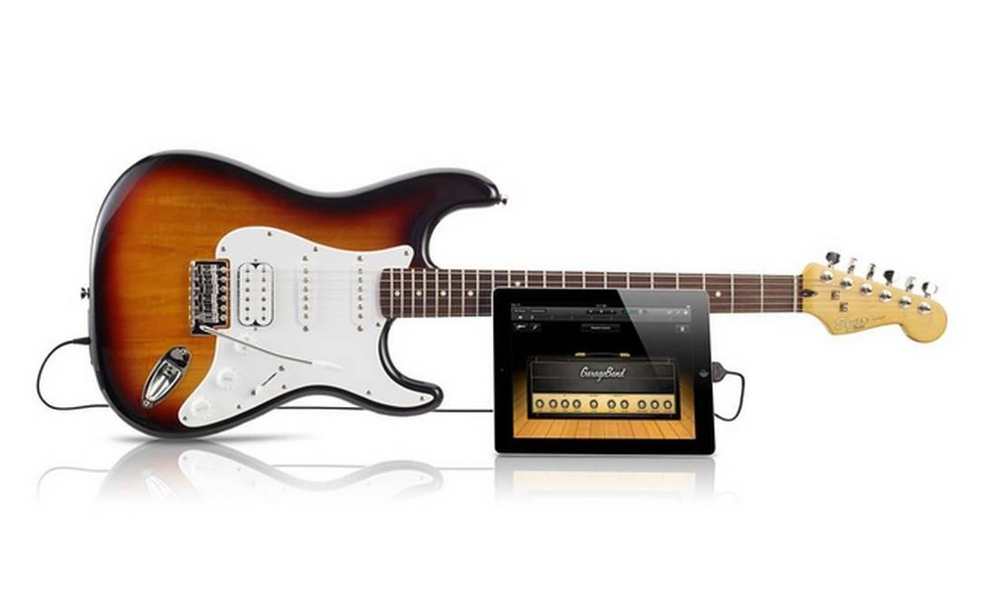 Guitarra Fender Squier USB Stratocaster se conecta diretamente ao iPad Foto: Reprodução
