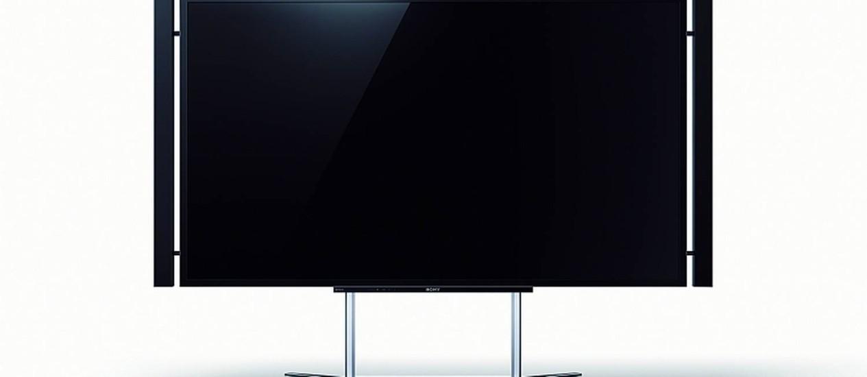 Sony XBR-84X905, a primeira TV 4K do Brasil Foto: Divulgação