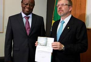 Presidente da Câmara, Marco Maia, é convidado para a posse de Joaquim Barbosa na presidência do STF Foto: Agência O Globo / Ailton de Freitas