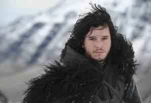 Kit Harington como Jon Snow, em 'Game of Thrones' Foto: Reprodução