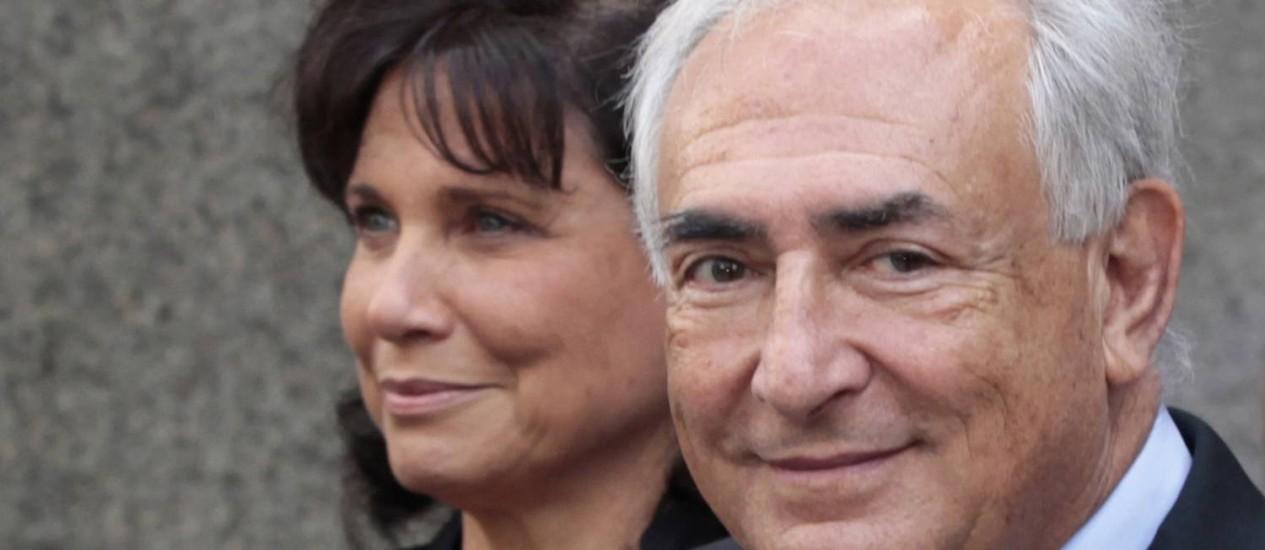 Oxitocina neles: com o spray, talvez Dominique Strauss-Kahn não tivesse traído sua mulher, Anne Sinclair Foto: Reuters