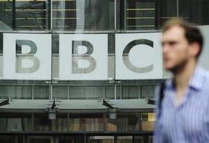 Fachada da sede da BBC, em Londres Foto: Olivia Harris/Reuters