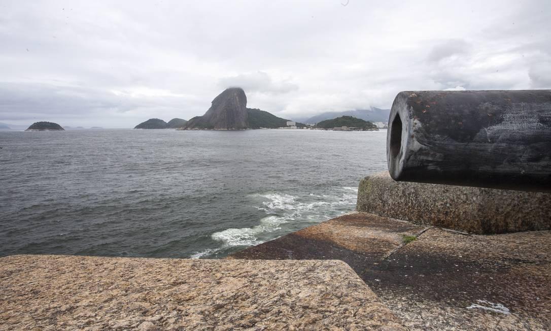 Hoje, a Fortaleza de Santa Cruz ainda guarda 52 canhões de diferentes origens e calibres Foto: Daniela Dacorso / O Globo