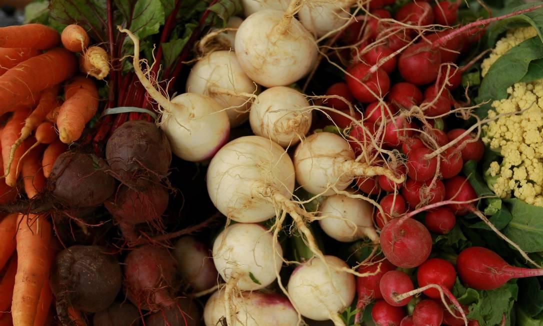 Fontes de fibras e vitaminas, as verduras e legumes têm papel fundamental na garantia do bem-estar mental Foto: Guilherme Leporace/03-11-2011