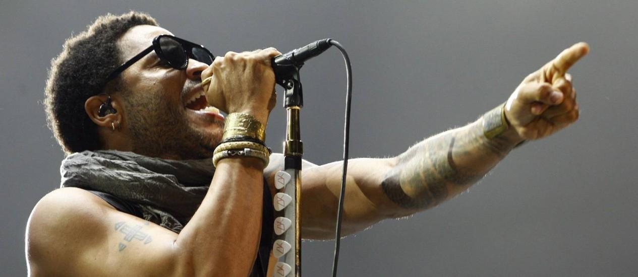 Lenny Kravitz vai interpretar os últimos anos de vida de Marvin Gaye Foto: Urbano Erbiste/Agência O Globo