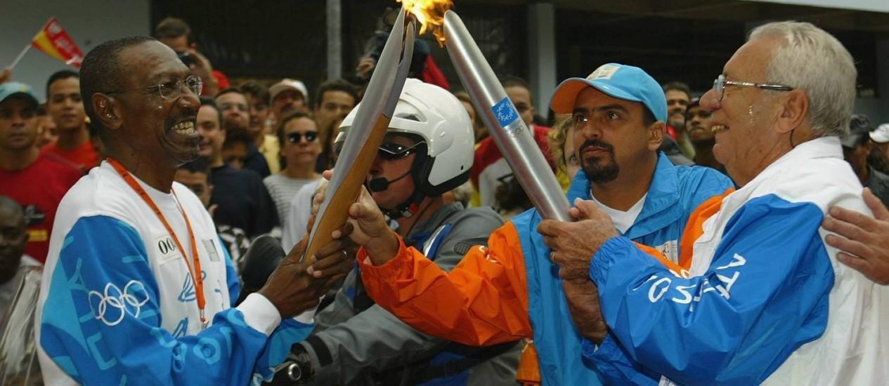 Nelson Prudêncio em 2004, na época da passagem da tocha olímpica pelo Rio de Janeiro Foto: Ricardo Leoni / Agência O Globo