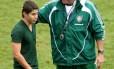 Conca e Abel Braga conversam nas Laranjeiras em 2011. Técnico é favorável a volta do argentino