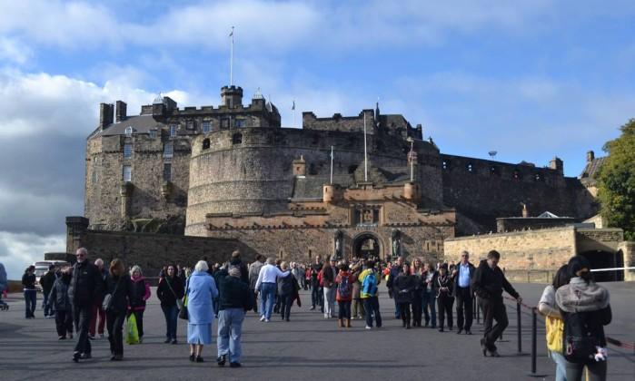 Ponto turístico mais visitado da Escócia, o Castelo de Edimburgo oferece as melhores vistas da cidade Especial para O Globo / Mari Campos