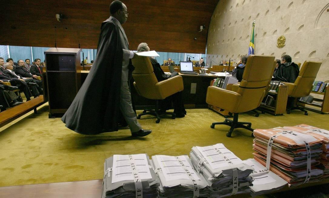Ministro em plenário da Corte Foto: Agência O Globo / Roberto Stuckert Filho