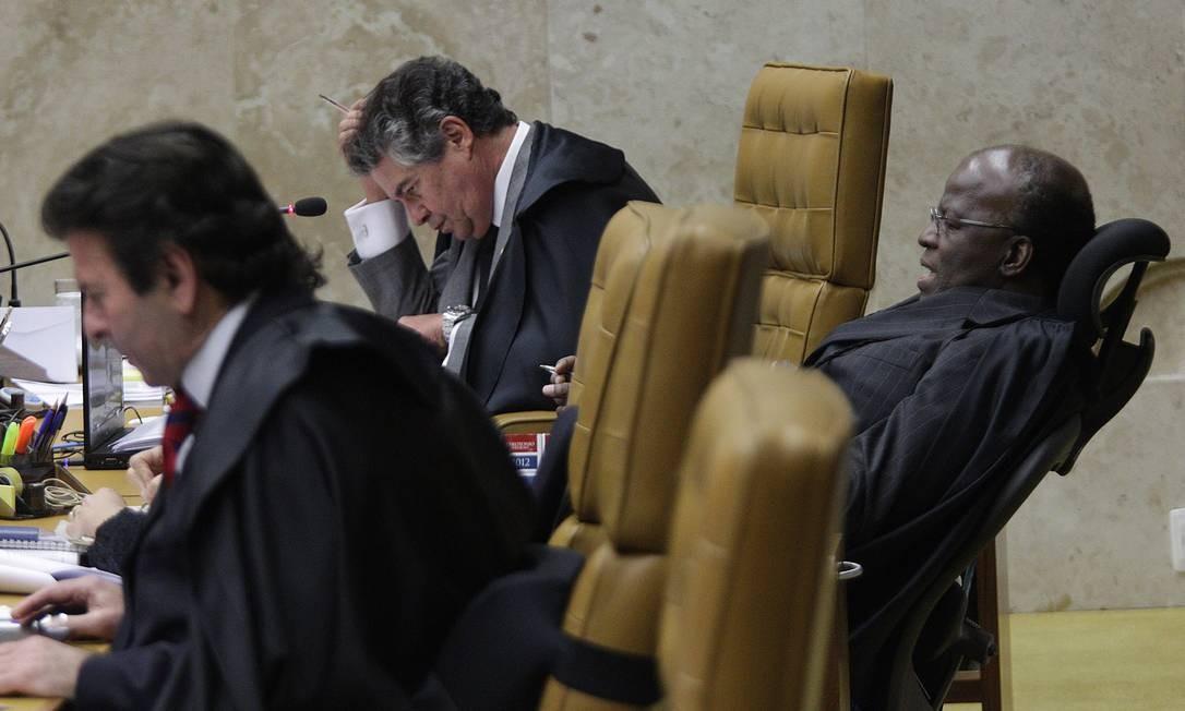Joaquim Barbosa, relator do processo do mensalão Foto: Agência O Globo / André Coelho