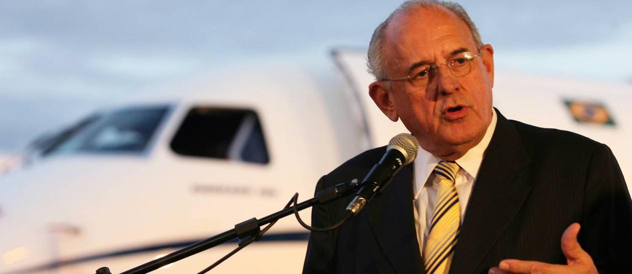 Nelson Jobim, que foi ministro da Defesa, se aposentou do Supremo em 29 de março de 2006 Foto: Gustavo Miranda / Arquivo O Globo