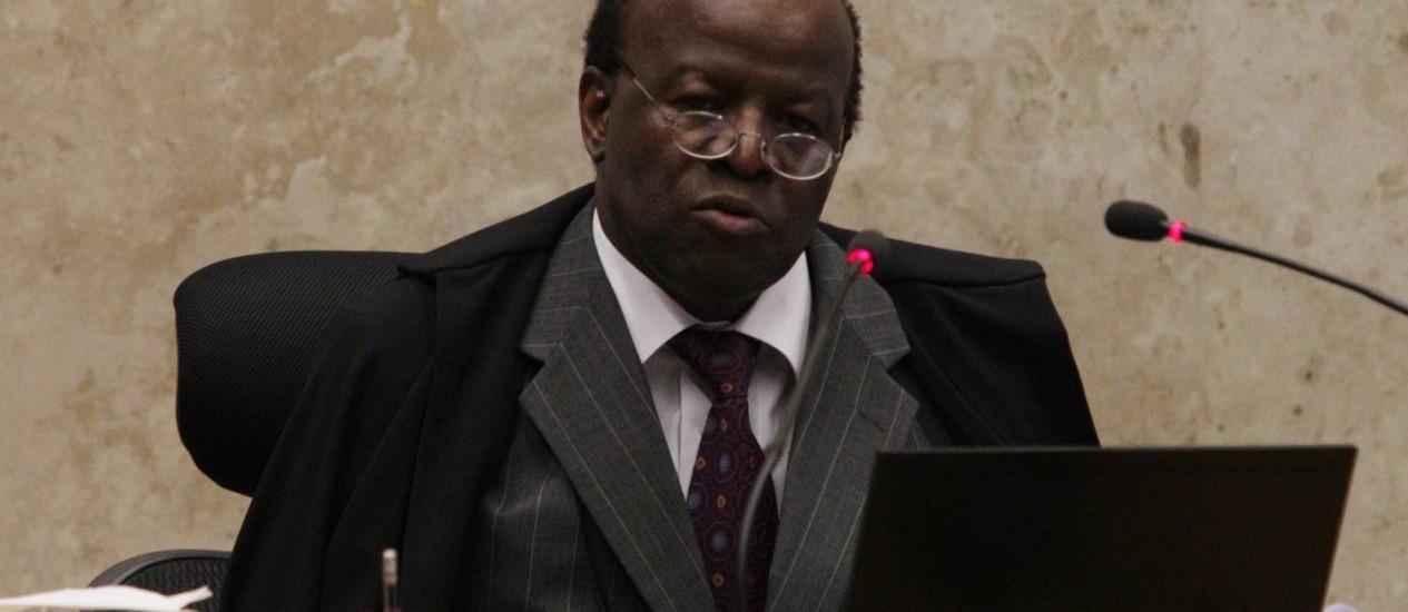Joaquim Barbosa assume a presidência do STF Foto: O Globo / André Coelho