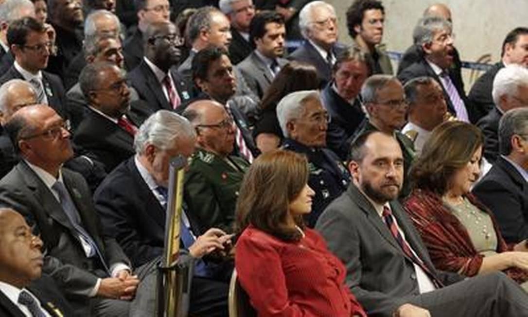 A ceromônia de posse do novo presidente do STF contou com a presença de convidados ilustres Foto: O Globo / André Coelho