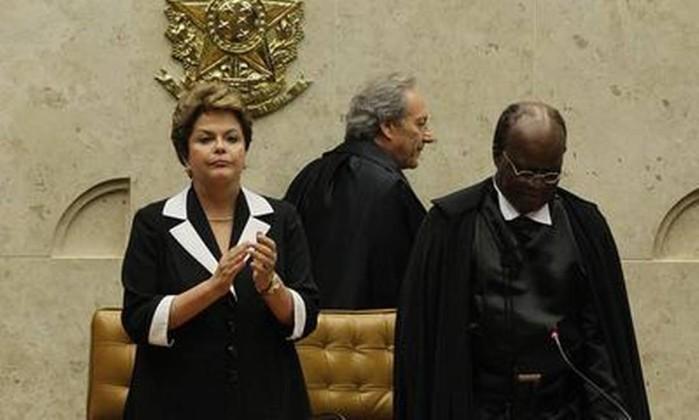 A cerimônia durou cerca de duas horas e várias personalidades discursaram O Globo / André Coelho