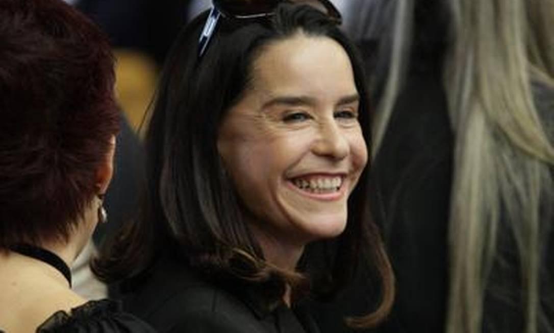 A atriz Lucélia Santos também esteve presente à cerimônia de posse do novo presidente do STF Foto: O Globo / André Coelho