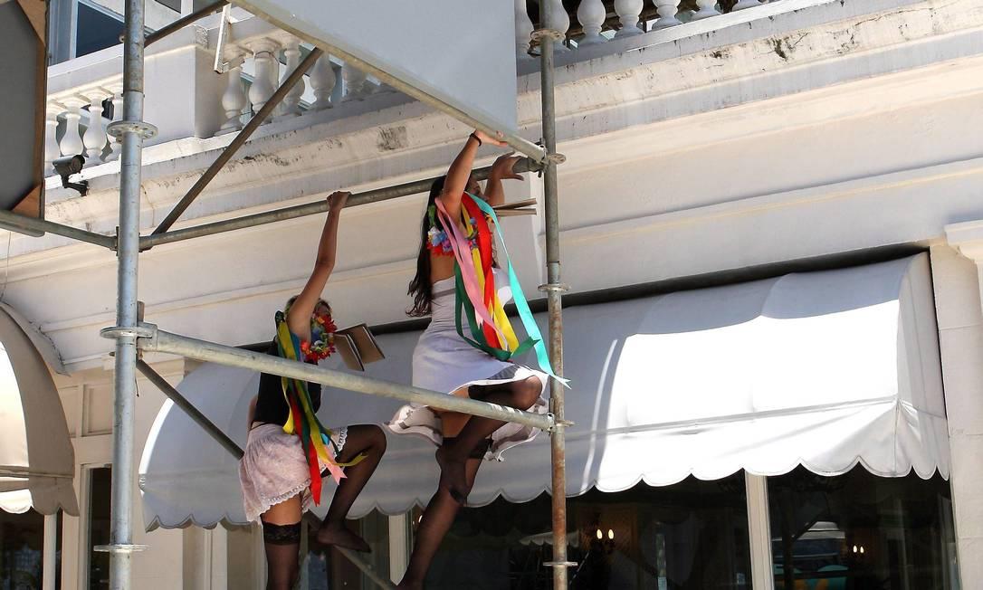 ... para realizar um protesto contra o turismo sexual Guilherme Pinto / Extra