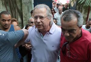 Dirceu foi condenado pelo mensalão Foto: O Globo / Michel Filho
