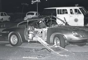 No dia 30 de abril de 1981 uma bomba explodiu dentro de um carro no estacionamento do Riocentro Foto: O Globo / Arquivo