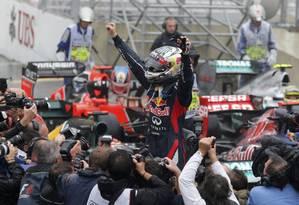 Sebastian Vettel chegou em sexto no GP do Brasil e conquistou o título da F-1 Foto: Reuters