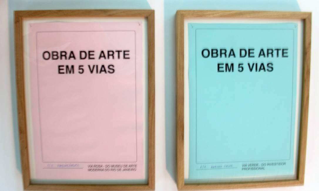 """""""Obra de arte em cinco vias e um contrato"""": prêmio de R$ 100 mil Foto: Divulgação"""