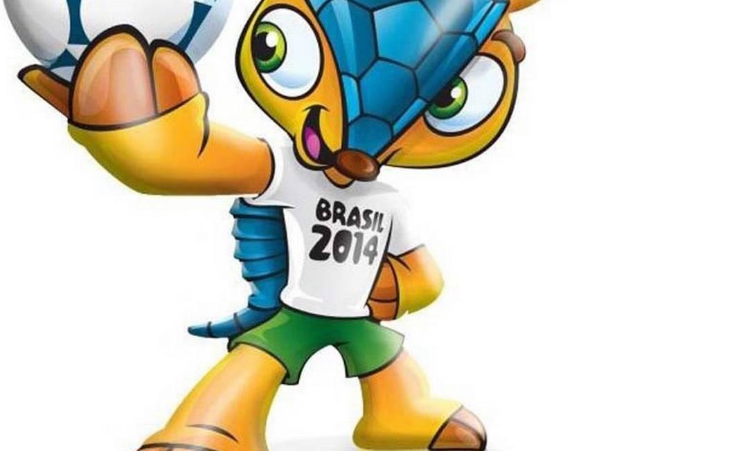 O tatu-bola, mascote da Copa de 2014, no Brasil Foto: Divulgação