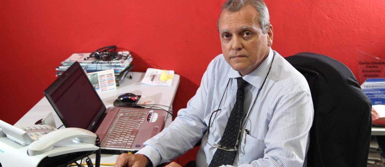 Eduardo Alvim foi vítima de golpe eletrônico Foto: Fabio Rossi / Agência O Globo