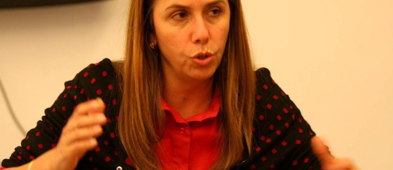 Patricia Amorim é candidata à reeleição no Flamengo Foto: Guilherme Pinto / Extra