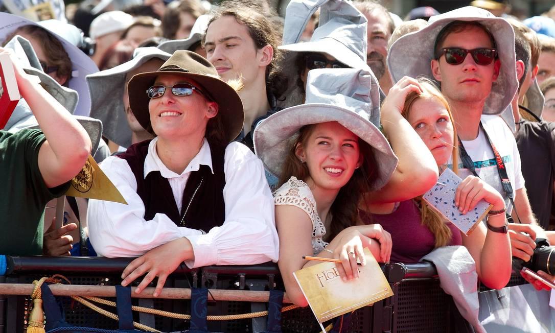 Chapéus, chapéus, muitos chapéus... Marty Melville / AFP Photo