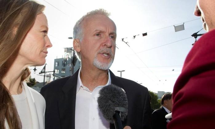 O cineasta James Cameron esteve presente na festa. Ele tem uma fazenda perto de Wellington, onde está escrevendo os roteiros de 'Avatar' 2 e 3 Marty Melville / AFP Photo