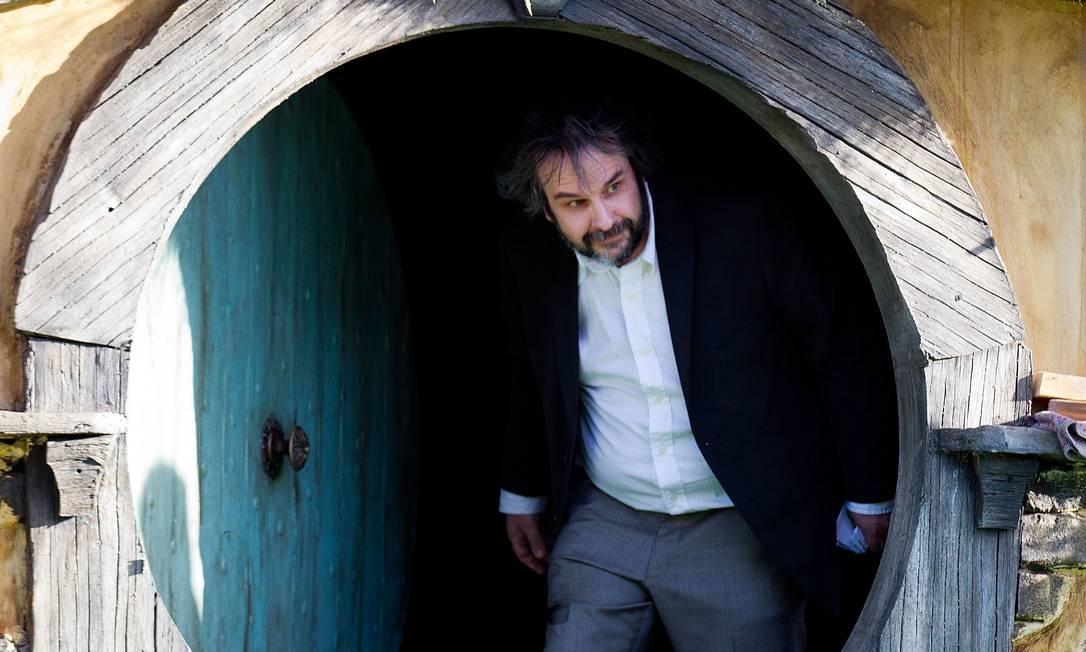 """O diretor Peter Jackson lançou nesta quarta-feira o primeiro longa-metragem de sua nova trilogia baseada nas histórias de J.R.R. Tolkien. """"O Hobbit - Uma viagem inesperada"""" teve sua pré-estreia em Wellington, capital da Nova Zelândia, onde os filmes foram rodados Marty Melville / AFP Photo"""