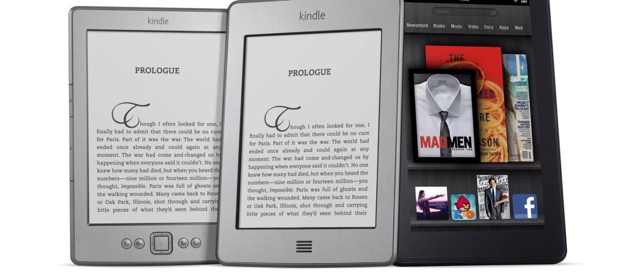 Linha Kindle, que inclui leitores digitais e tablets Foto: Divulgação