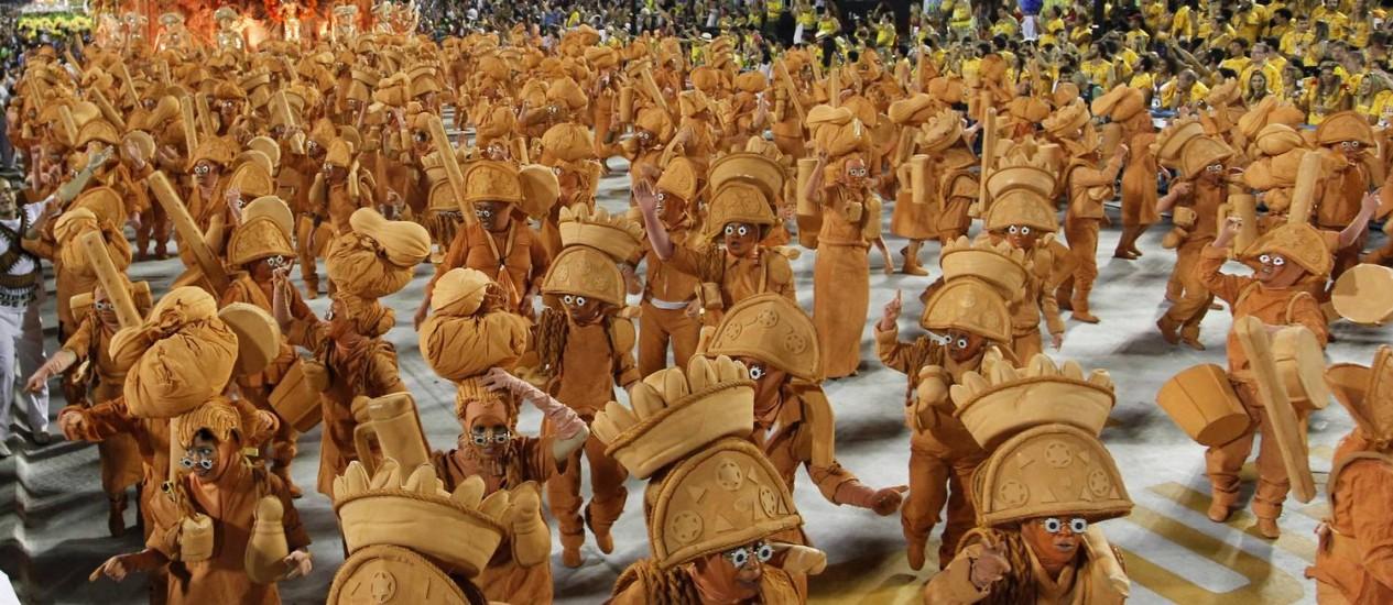 Campeã do último carnaval com um enredo sobre Luiz Gonzaga, a Unidos da Tijuca falará sobre a Alemanha em 2013 Foto: Guito Moreto / O GLOBO