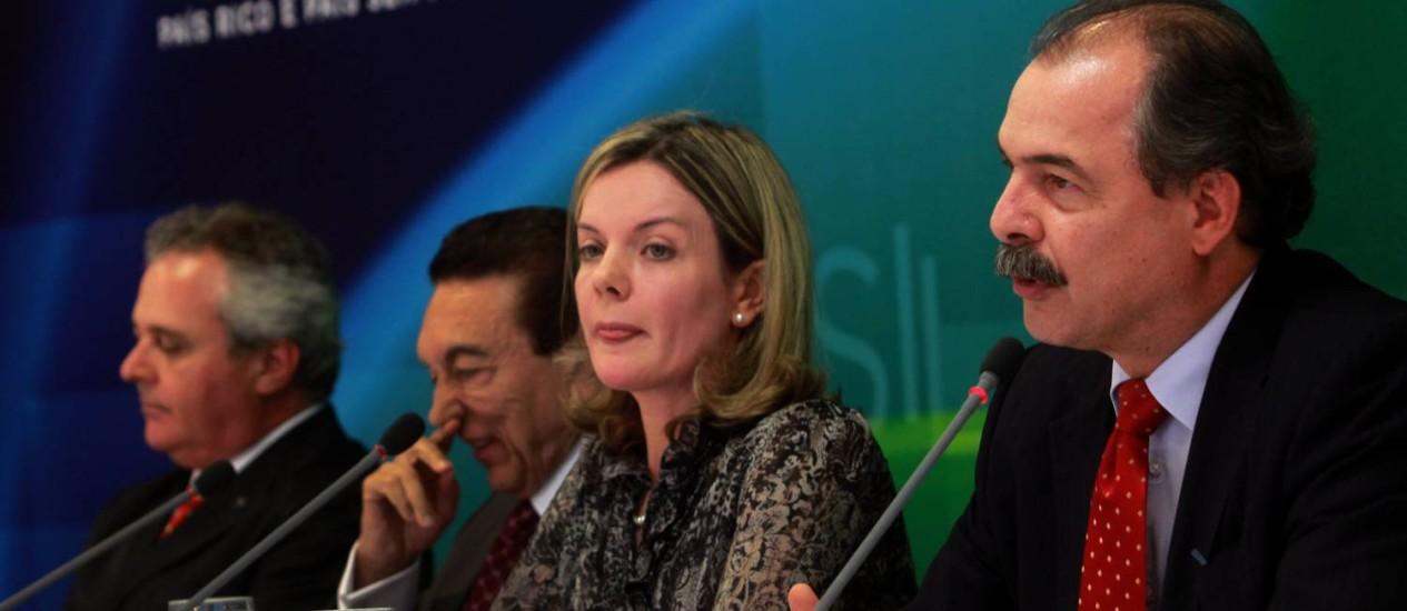 Ministros anunciam decisão da presidente Dilma: veto parcial era esperado Foto: Givaldo Barbosa / Agência O Globo
