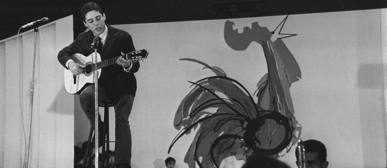 Jovem Chico. O compositor será retratado desde seu primeiro sucesso, 'A banda', de 1966 Foto: Divulgação