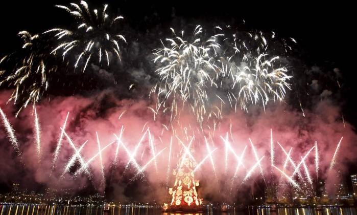 """""""Todos os natais do mudo"""" é o tema da árvore neste ano Marcelo Carnaval / O Globo"""