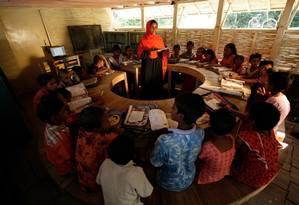 Barco-escola em Bangladesh Foto: Divulgação